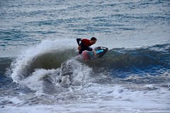 Numéro d'équilibriste ... (LefebvreK53) Tags: skim skimboard plage mer sable potes sport aquatique