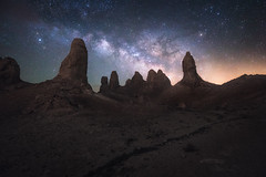 Space Soldiers (bryanchong.photo) Tags: space soldiers mars alien planet trona pinnacles california landscape astrophotography astro night nightscape outdoor milky way stars sony a7rii 1635 wide angle nature tufa