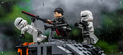 Get off our tank! (Lego_LUTs) Tags: yellow blue green storm trooper star wars war lego outdoors clone troopers first order blasters afol minifigs minifigures bricks blocks canon toy toys force legos t3i republic people photoadd atst death rogue one dirt practical effects orange arc