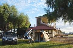 Racetrack Camp (335semi) Tags: australia nsw outback brokenhill camp grandstand racetrack