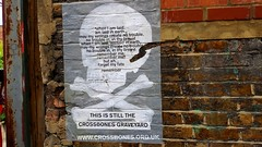 Outside The Cross Bones Garden Of Remberance. Southwark. (standhisround) Tags: crossbones southwark borough london uk england garden memorialgarden gardenofremembrance outdoors outside wall poster