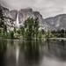 Waterfall reflection