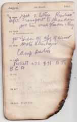 23-29 Aug 1915 (wheresshelly) Tags: ww1 wwi world war 1 australia gallipoli egypt military australian 4th field ambulance anzac morton wilfred