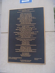 Architect's Plaque, Franklin County Courthouse, July 31,2016 (rustyrust1996) Tags: franklincounty frankfort kentucky courthouse architecture plaque 2013 judicialcenter
