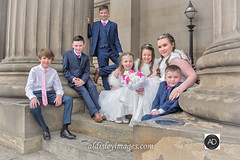 The Dearly Beloved (alun.disley@ntlworld.com) Tags: wedding chiuldren stgeorgeshall liverpool suits dresses posy smiles pose tiaras pillar architecture event occasion family youngsters fun