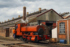 Orange Industrial (Treflyn) Tags: andrew barclay no11 east anglian railway museum shed didcot centre 50yearsatdidcot gala