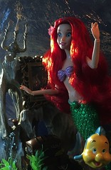 Love to Explore that Shore Up Above... (MaxxieJames) Tags: ariel the little mermaid disney store doll dolls flounder fish grotto princess collector singing