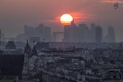 sunset la défense (apparencephotos) Tags: paris régionparisienne rooftop sunset ladéfense ville capitale champsélysée arcdetriomphe