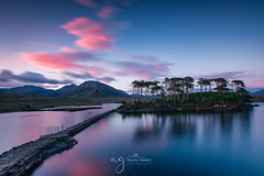 Sunset over Pine Island (Pastel Frames Photography) Tags: derryclare lough connemara cogalway pine island longexposure lake water sunset colours nature canon5dmark3 canon 1635 mm clouds sky travelphotography travel sighseeing loveireland ireland wideangle lens lovecanon connemaranationalpark
