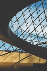 Paris Architecture (elizabeth.rohlik) Tags: spiraling quiet dynamiclighting dark blues louvre stairs