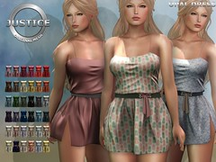 JUSTICE OPAL DRESS FATPACK ([:.UNDERGROUND & JUSTICE.:]) Tags: secondlife fashion avatar virtualworld 3d 2ndlife vaientine valentine coy justice maitreya slink physique hourglass belleza