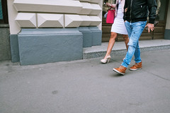 Gum Couple (Ktoine) Tags: beheaded candid street moscow russia legs shoes heels couple luxurious luxe