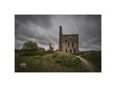 Pascoe's (silver/halide) Tags: whealfrancesmine pascoesshaft tinmine copper historic ruin greatflatlode granite johnbaker decay derelict abandoned poldark cornwall kernow enginehouse