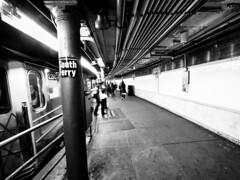 Last Stop (C@mera M@n) Tags: blackandwhite city manhattan monochrome ny nyc newyork newyorkcity newyorkcityphotography newyorkphotography places subway urban nycphotography