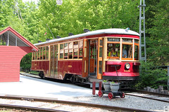 TTC streetcar 2894 (Can Pac Swire) Tags: halton county co radial railway museum openair working rockwood milton ontario canada canadian 13629 guelphline 2016aimg3861 meadowvale station stop 47 shelter old historical historic restored preserved 2894