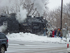 Soo, Steam, Smoke, Snow & Swinging Signals (AndyWS formerly_WisconsinSkies) Tags: train railroad railway railfan sooline1003 sooline steamlocomotive 282 mikado wigwag wigwagsignal