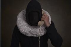 Who's calling? (Ferdinand Bart Alst - Pixel Your Soul Photography) Tags: telephone selfportrait portrait black faceless hello ferdinadbartalst pixelyoursoulphotography 50mm fineart art