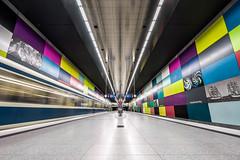 Georg-Brauchle-Ring U-Bahn München (xxremixx) Tags: architecture architektur georg brauche ring ubahn station hof münchen munich bavaria bayern abstract abstrakt underground subway