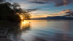Lake constanz sunset (Sebo23) Tags: sunset sunstar sonnenuntergang sunbeams sunrays sonnenstrahlen sonnenstern bodensee lakekonstanz lake abendstimmung abendlicht canon6d canon24704l höri