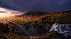 A different Skogafoss (Iván F.) Tags: landscape lanscapes iceland skogafoss waterfall pano panorama sony samyang light dark color colourfull beautiful travel tourism cloud cloudy natgeo lonely planet explore explorer exploration