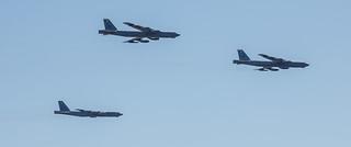 B-52H Three in Pattern