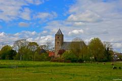 Dutch Landscape (JaapCom) Tags: jaapcom landscape landed landschaft kirck clouds zalk dutchnetherlands trees hollanda
