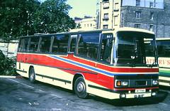 Slide 096-70 (Steve Guess) Tags: london england gb uk coach bus b17fkh daf plaxtom paramount gloucester road station