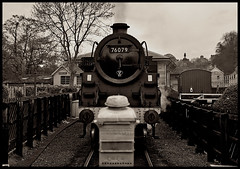 The 76079 (Vide Cor Meum Images) Tags: mac010665yahoocouk markcoleman markandrewcoleman videcormeumimages vide cor meum nikon d750 train steam pickering yorkshire british britain industrial mono symmetry