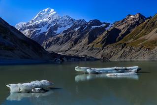 Glacier Ice in Hooker Lake
