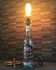 Havana Club rum bottle lamp (Wattbottles) Tags: havana club rum bottle lamp lighting design interior decor home bar boho steampunk upcycled gift fathersday present idea edison bulb filament
