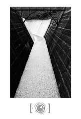 Spillway (Dervish Images) Tags: dervishimages russdixon newzealand auckland monochrome mono bw blackandwhite architecture abstract spillway lowernihotupudam fujixe2 ultrawideangle