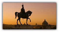 Rome...La ville éternelle... (jldum) Tags: rome roma statue crépuscule sunset sunrise ciel italie italia