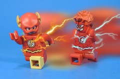 You're a Flash Now (MrKjito) Tags: lego minifig super hero comic comics dc rebirth flash barry allen wally west speedforce speed running