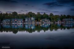 as night falls (rosserx) Tags: boathouserow philadelphia schuylkill river