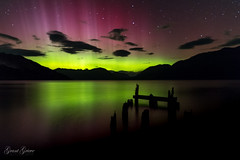 Special Night (grantg59@xtra.co.nz) Tags: aurora australis lake wakatipu tea rooms jetty reflection rays sky beams colour