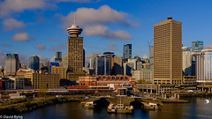 Harbour Centre from Helijet (david byng) Tags: helijet spring 2017 travel pacificocean city canada britishcolumbia vancouver ca