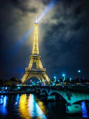 Eiffel Tower Night (Stuck in Customs) Tags: france paris stuckincustomscom treyratcliff hdr aurora aurorahdr x1d night lights tower eiffel 80stays rcmemories airnzphotocontest flixbus interflixcontest