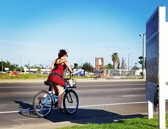 Working the Street by Bike (rickele) Tags: sacramento southsac stocktonblvd oldus99 usroute99 sexworker prostitution