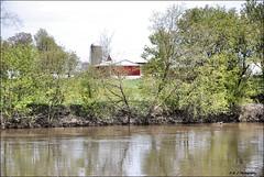 Across the River (John Neziol) Tags: kjphotography nikon nikoncamera nikondslr grandriver brantford river barn farm outdoor ontario tree trees water countryside