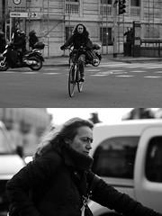 [La Mia Città][Pedala] (Urca) Tags: milano italia 2017 bicicletta pedalare ciclista ritrattostradale portrait dittico bike bicycle biancoenero blackandwhite bn bw 993135 nikondigitale scéta