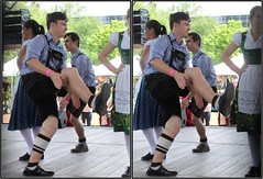 SpringWorld IFEST International Festival, Discovery Green, Houston, Texas 2017.04.15 (fossilmike) Tags: houston texas springworld ifest discoverygreen german dance 3d crosseye