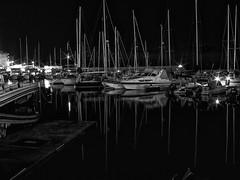 NIght time B&W (sha_man3d) Tags: black white fujifilm xf1 nightshot seascape greece crete