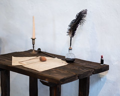 PEDB20170509-186.jpg (EricBier) Tags: place candle artwork mssnbsllcsndgdall gitzotripod 20170509missionbasilicasandiegodealcala event implement photoouting featherpen candlestick category antique ink abbreviationforplace desk sandiego 92108