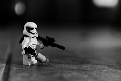 Stormtrooper (tomymagl1) Tags: star wars stormtrooper empire soldier lego toy miniature space travel olympus omd em10 mzuiko 25mm closeupview monocrome imperial
