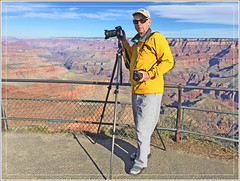 Photographer at the Grand Canyon (Explored) (Runemaker) Tags: dl runemaker photographer nikon tripod d750 grandcanyon southrim moranpoint arizona landscape canyon nature