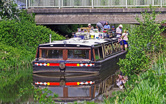 Ok, you can stand up now.................... (wontolla1 (Septuagenarian)) Tags: rufford leeds liverpool canal branch marina water boat barge hotel floating bridge road lancashire