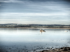 boats from Lindisfarne (neilalderney123) Tags: ©2017neilhoward olympus olympusuk lindisfarne boats water reflections northumbria