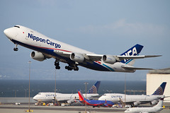 NCA 747-8 departing SFO (ChasenSFO) Tags: ja14kz kz nca nipponcargo nipponcargoairlines 748 7478 7478f 747f boeing b748 takeoff rotate sfo ksfo sfia united unitedairlines sanfranciscointernationalairport sanfranciscoairport