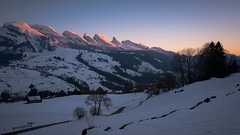 The very last light...(explored) (dam.he) Tags: toggenburg churfirsten leicaq ostschweiz leica kantonstgallen schweiz alps switzerland berge cantonofstgallen stgallen evening winter mountains