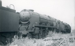 img587 (OldRailPics) Tags: british railways steam train locomotive br buttigiegs newport 34005 barnstable